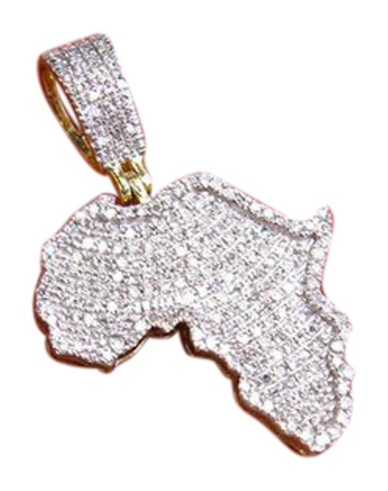 10k yellow gold mens genuine diamond africas map pendant 65ct other mens 10k yellow gold genuine diamond africas map charm pendant 65ct aloadofball Image collections
