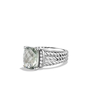 David Yurman Petite Wheaton Ring with Prasiolite and Diamonds
