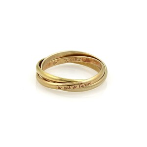 Cartier Cartier TRINITY 18k Tri-Color Gold 2mm Rolling Band Ring EU 53-US 6.5