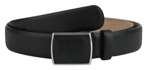 Gucci New Gucci Black Leather Belt w/Leather Buckle 105/42 299271 1000