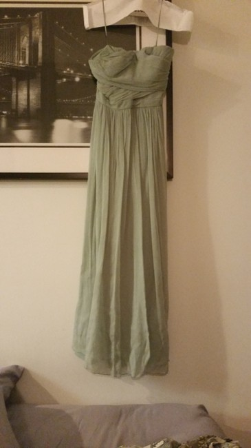 Item - Light / Pale Green Silk 41367 Formal Bridesmaid/Mob Dress Size 4 (S)