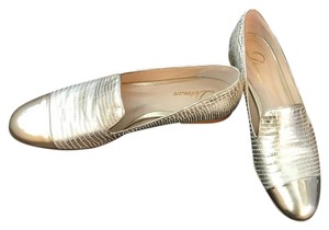Delman Leather gold Flats