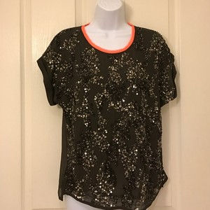 Super Dry Sequin Sheer Top