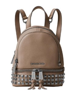 Michael Kors Leather Rhea Studded Backpack