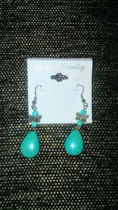 Other Tibetan Silver and Turquoise Dragonfly Dangle Earrings