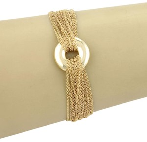 Tiffany & Co. 18K Yellow Gold Multi Strand Mesh Link Toggle Bracelet w/Box