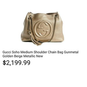 Gucci Satchel in Metallic Gold Leather