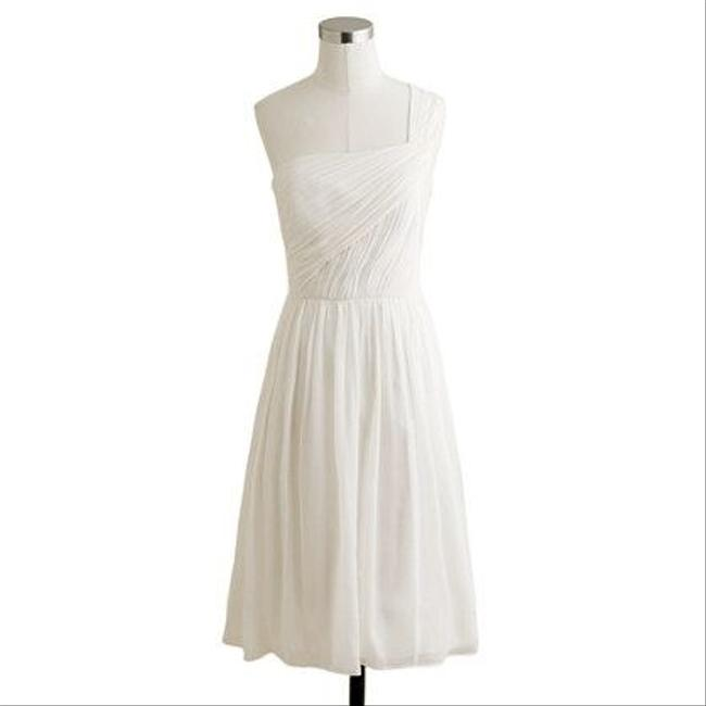J.Crew One Shoulder Petite Bridesmaid Silk Chiffon Wedding Dress