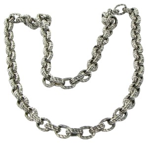 David Yurman Mens Maritime Oval Link Chain Necklace 22