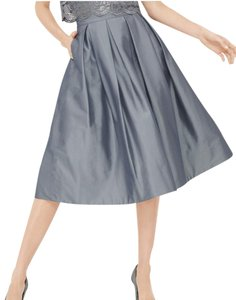 White House | Black Market Full Taffeta Skirt Grey