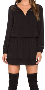 Joie short dress Black Little Lace Tassles on Tradesy