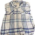 Vintage Havana Top white, navy, mint plaid