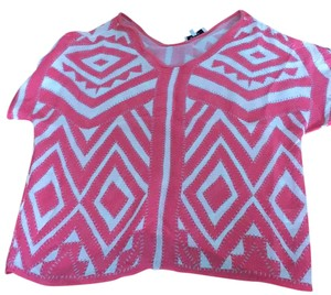 MILLY Top pink/white chevron