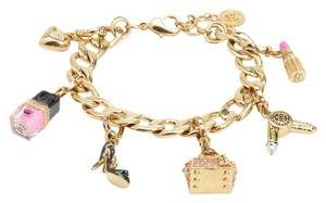 Juicy Couture JUICY COUTURE GLAMOUR GIRL CHARM BRACELET Color: GOLD Size: O/S NEW WITH TAGS