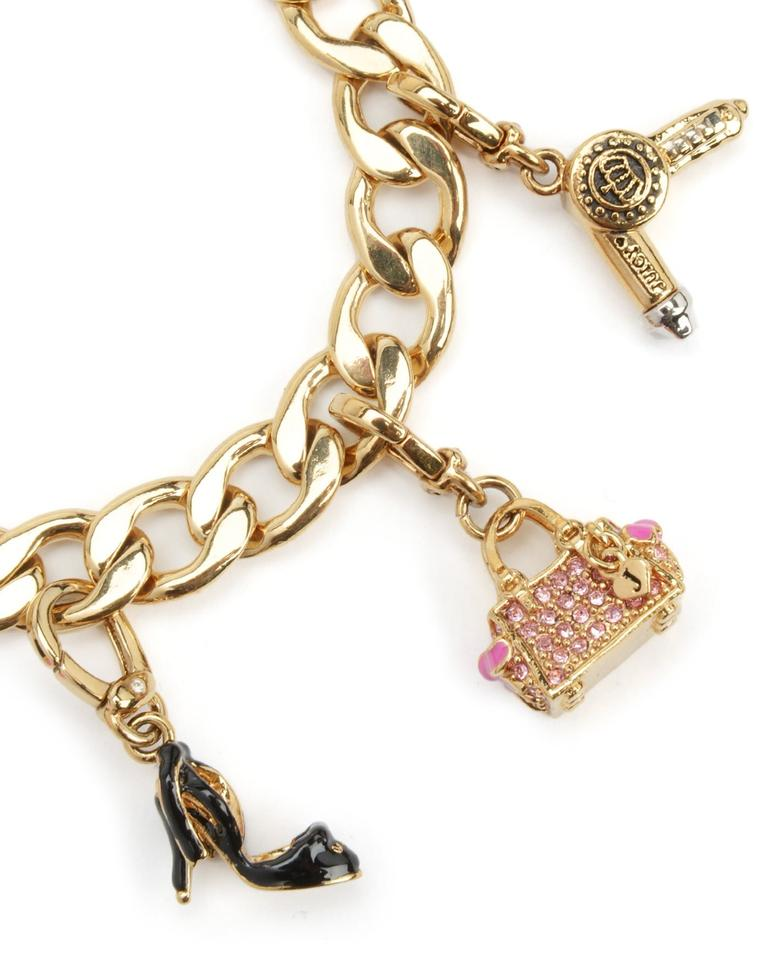 Juicy couture gold pink purple multi color bracelets 43 for Juicy couture jewelry necklace
