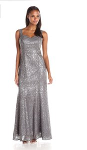 Ignite Evenings By Carol Lin Silver Ignite Women's Sheer Caplet Over Sutach Knit Evening Dress Dress