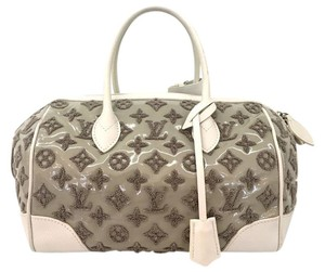 Louis Vuitton Emroidered Monogram Limited Edition Tote in gray