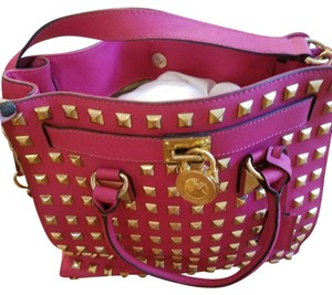 Michael Kors Satchel in Rare pink studded bag