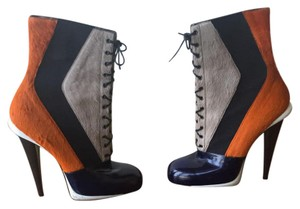 Fendi Navy/Taupe/Black/Orange/White Boots