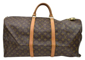 Louis Vuitton Keepall 60 Bandouliere Boston Travel Lv BROWN Travel Bag