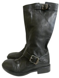 Frye Monogram Leather Youth BLACK Boots