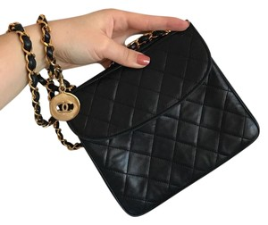 f964a630f04a Chanel Vintage Classic Gold Hardware Cross Body Bag