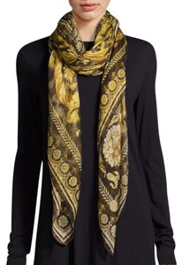 Versace Cashmere Shawl/Scarf Marrone Brown and Gold IFO14R1 IT01039 I7084