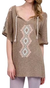 ETERNAL SUNSHINE CREATIONS Bohemian Sweater Ethnic Patterned Braided Tassel Festival Tunic