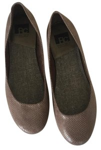 BC Footwear Ballet Snakeskin Bc Taupe Flats