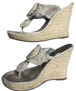 Jack Rogers Silver Wedges