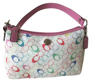 Coach Satchel in Multi Colored/Pink