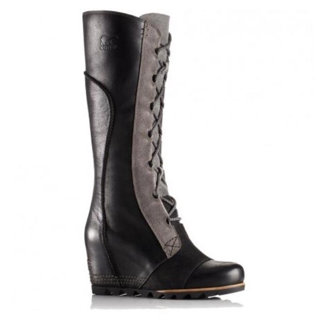 Item - Black & Grey Cate The Great Wedge Boots/Booties Size US 9 Regular (M, B)
