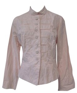 Chico's Mandarin Casual Pink Spring Jacket