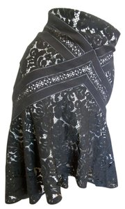 Lover Lace Ruffled Lace Skirt Black