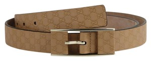Gucci Guccissima Tan Embossed Leather Belt