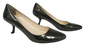 Prada Patent Leather Size 37/7 Gunmetal Gray Pumps