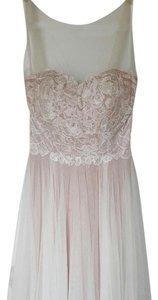 BHLDN Ivory Sheer Illusion Netting A Flowy Skirt and Tie At The Back. Penelope Feminine Wedding Dress Size 0 (XS)