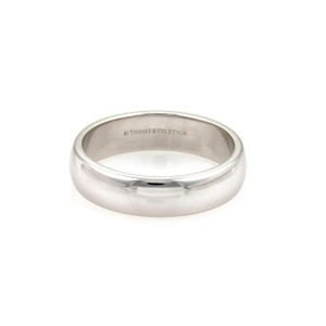 Tiffany & Co. LUCIDA Platinum 6mm Wide Dome Wedding Band Ring Size 11