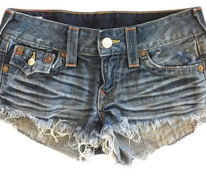 True Religion Jean Cut Off Shorts Blue