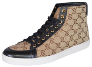 Gucci High Top Sneakers Beige/Black Athletic