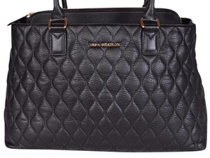 Vera Bradley Leather Quilted Tote in Black