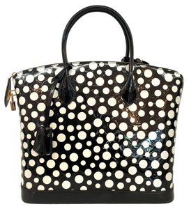 Louis Vuitton Polka Dot Patent Leather Limited Edition Tote in Black & White