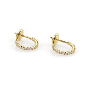 Tiffany & Co. METRO Diamond Small Hoop Earrings in 18k Yellow Gold