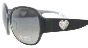 Coach Black Metal Heart New-With-Tags Coach Sunglasses S2027-001/MP1033