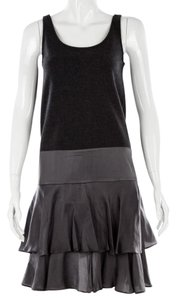 Diane von Furstenberg Silk Wool Ruffle Tank Dress