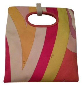 Emilio Pucci Yellow, Green and Pink Clutch