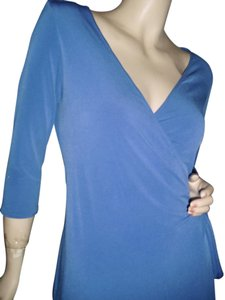 Moda International short dress royal blue wrap dress on Tradesy