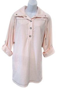 Chico's Casual Pastel Pullover Pink Jacket