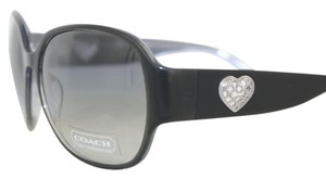 Coach Black Metal Heart New-With-Tags Coach Sunglasses S2027-001/MP1034