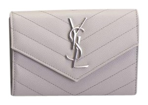 Saint Laurent YSL Saint Laurent Chevron Flap, Leather